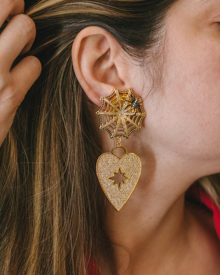 WEBBED LOVE EARRINGS