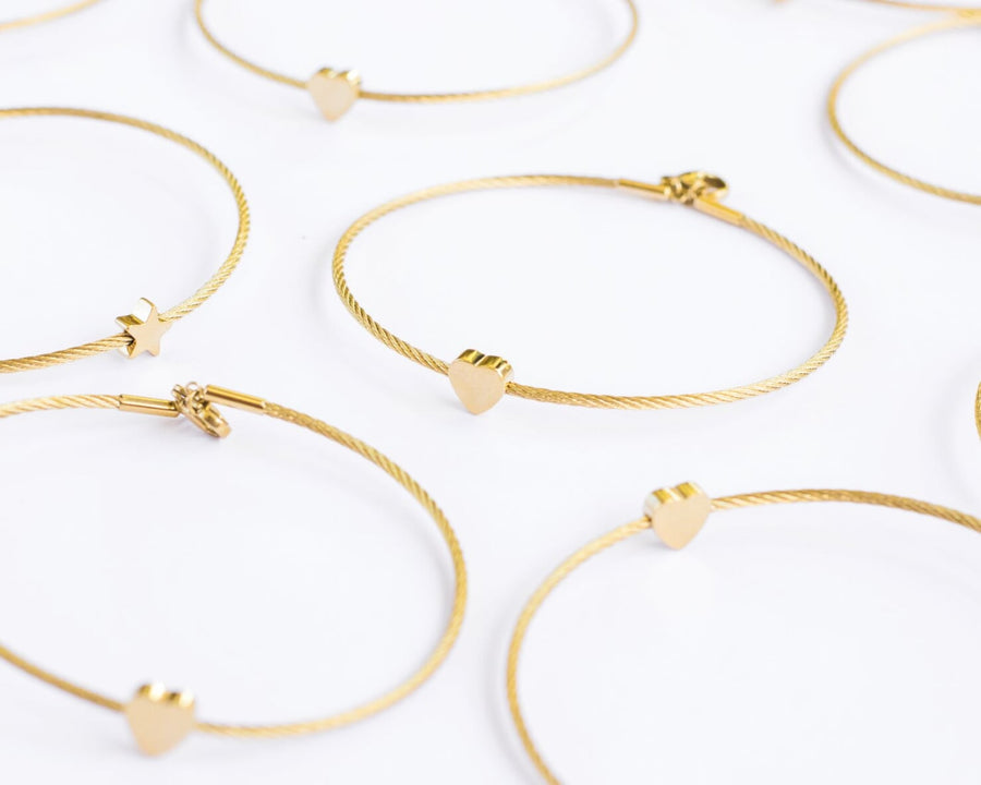 GOLD CABLE BRACLETS