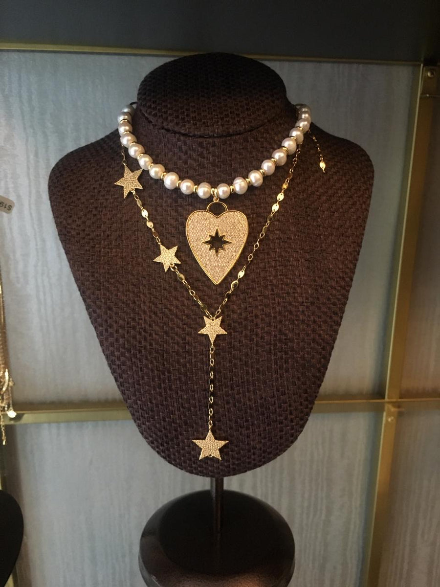HEART AND STARS NECKLACES