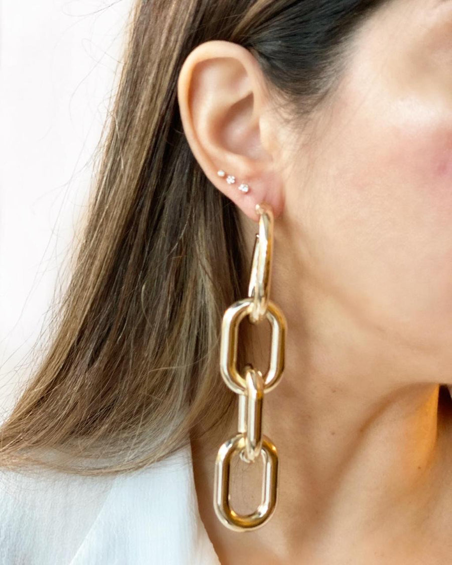 Dangle Link Chain Earrings