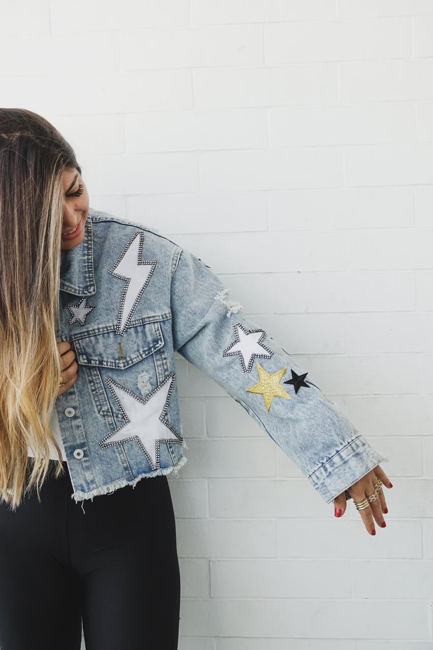 Reach For The Stars Denim Jacked