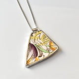 Recycled China Necklace - Francis Morley Cleopatra - Purple and Gold