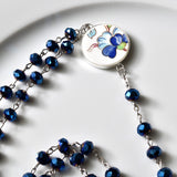 Copy of Recycled China Rosary - Blue