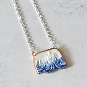 Recycled Demitasse Cup Pin Cushion - Yellow Polka Dot