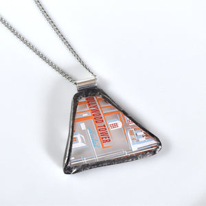 Broken China Jewelry Pendant - Disney - Hollywood Tower