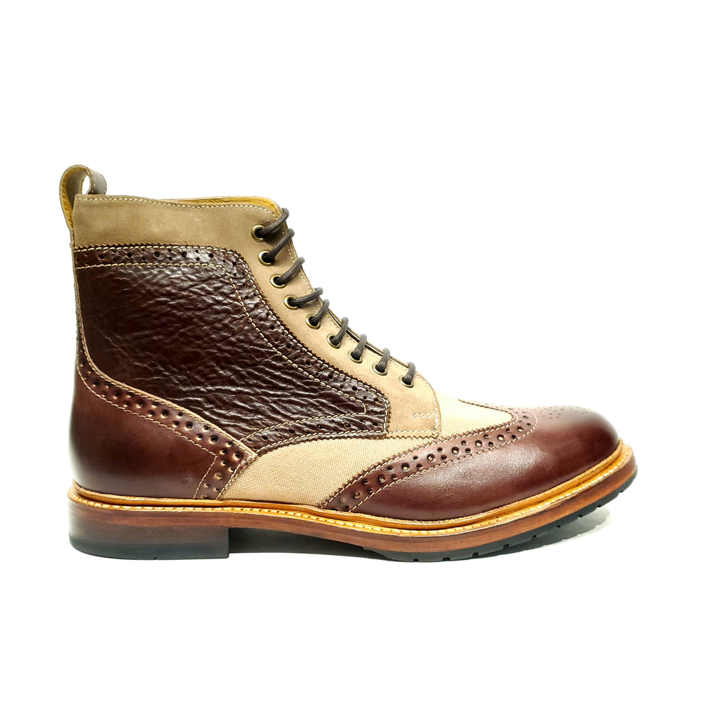 Stacy Adams Madison II Wingtip Boot Brown Multi