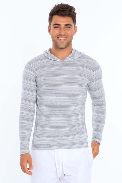 Miami Style Injected Yarn Long Sleeve Hoodie 520