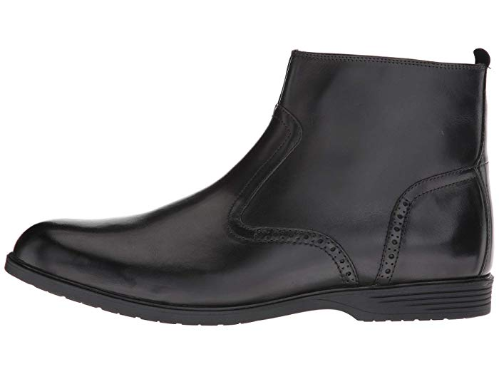 Hush Puppies Shepsky Zip Boot - Black Leather
