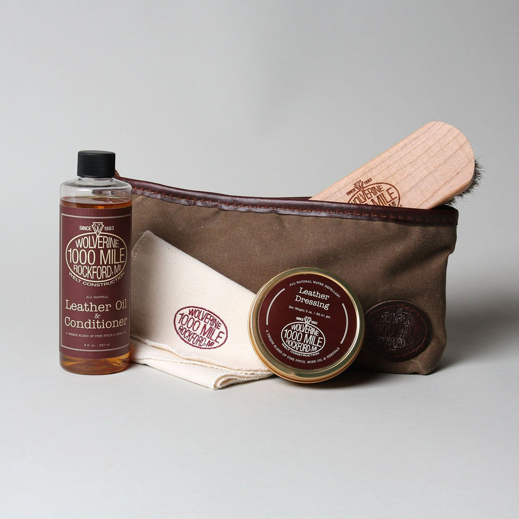 1000 Mile Leather Oil Shoe Care Kit