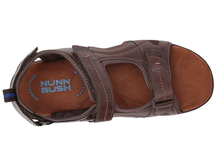 Nunn Bush Rio Grande Three-Strap Sandal Tan