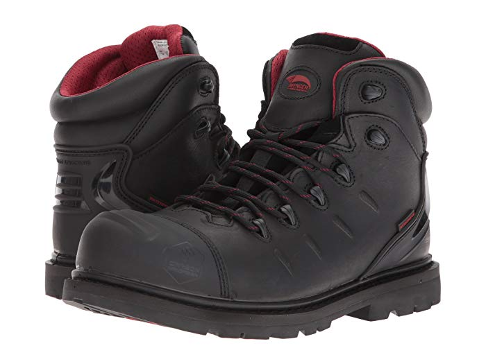 "Avenger Safety Footwear Men's A7547 Black 6"" Waterproof Carbon Safety Toe Work Boot,"