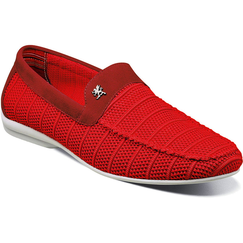 Stacy Adams Ciran Moc Toe Slip On Red