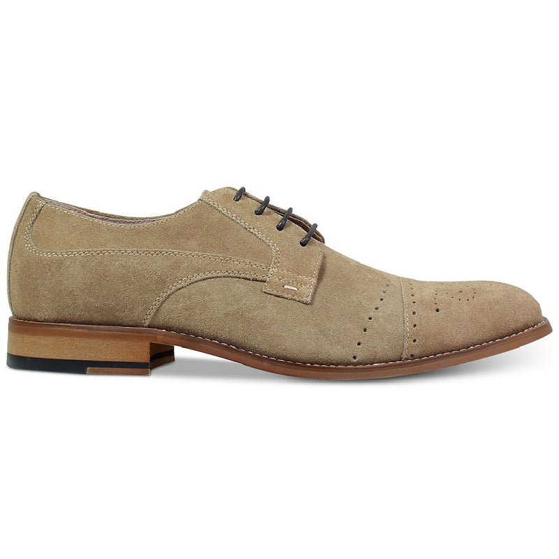 Stacy Adams Deacon Medallion Cap Toe Oxford Sand