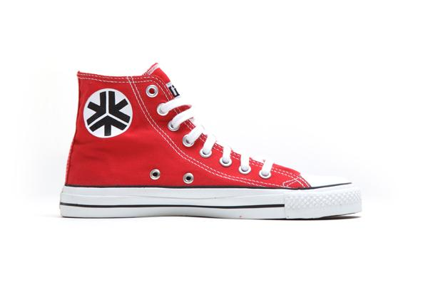 Etiko Hi Tops Red Organic