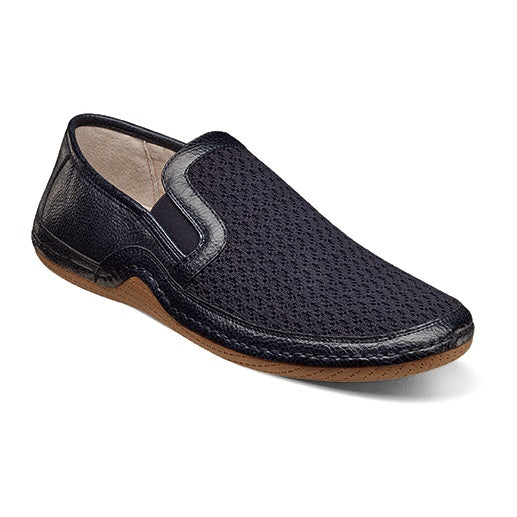 Stacy Adams Orleans Moc Toe Slip On Navy