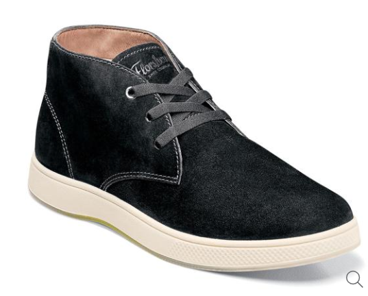 Florsheim Edge Plain Toe Chukka Black