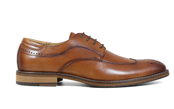 Stacy Adams Fletcher Wingtip Oxford Cognac