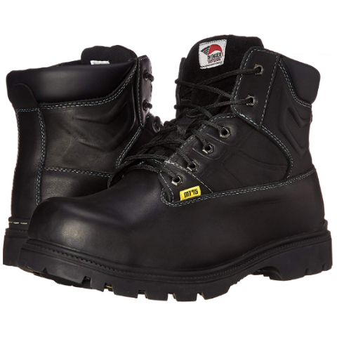 Avenger Steel Toe Met Guard Heat Resistant Work Boot 7300 - Black MT75