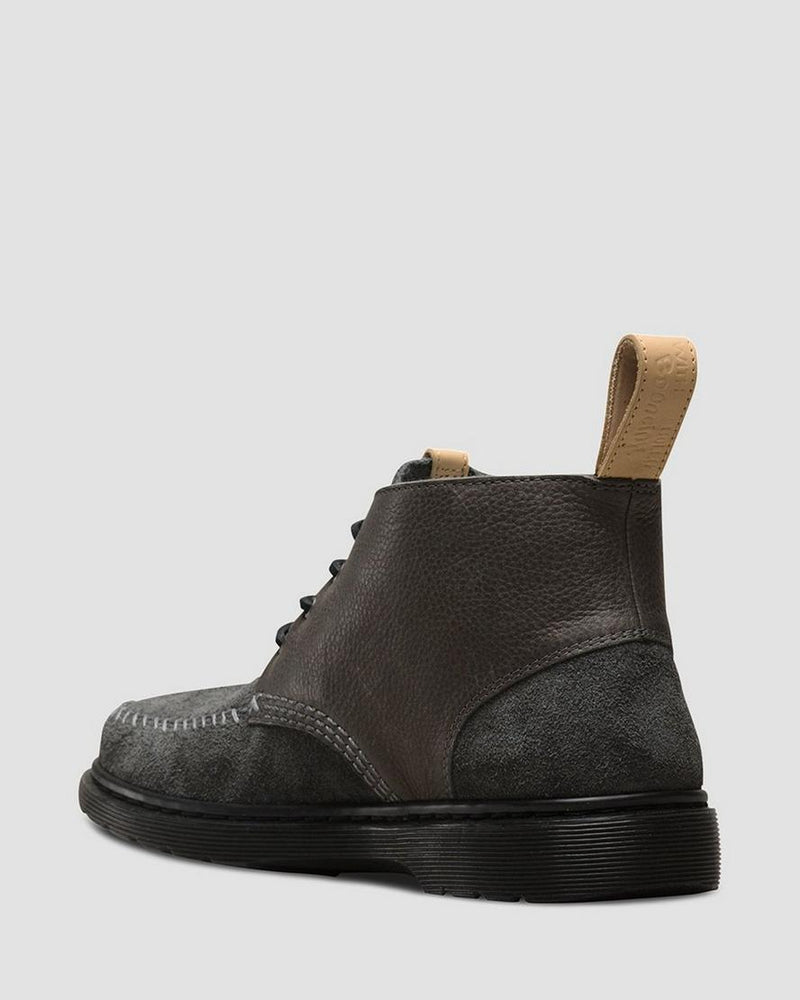 Dr. Martens Holt Hairy Suede + Mesa Boot Charcoal Gunmetal
