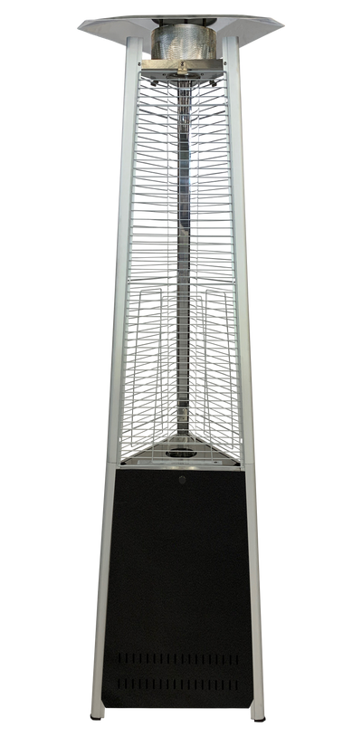 Black & Stainless Steel Tower of Fire Style Patio Heater