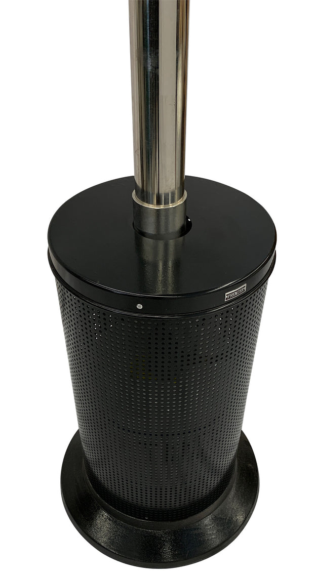 Black & Stainless Steel Mushroom Style Patio Heater