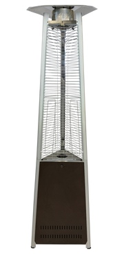 Bronze & Stainless Steel Tower of Fire Style Patio Heater