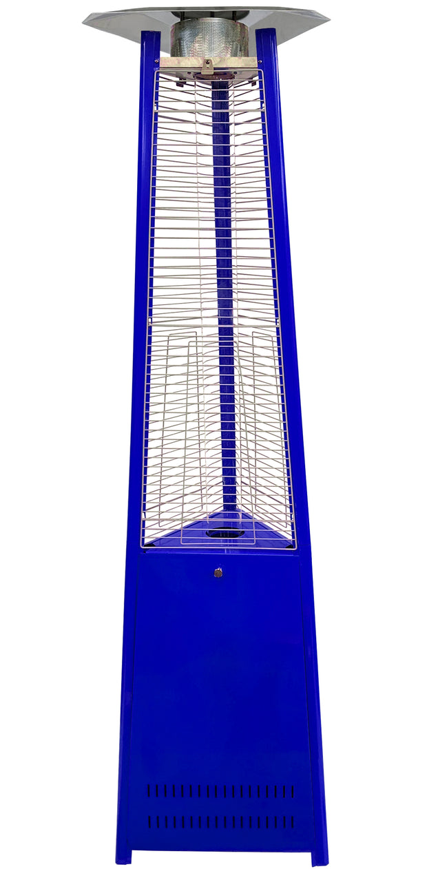 Dark Blue Tower of Fire Style Patio Heater