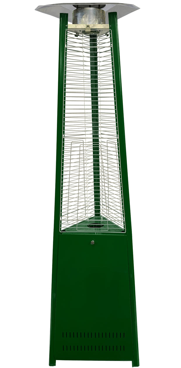 Dark Green Tower of Fire Style Patio Heater