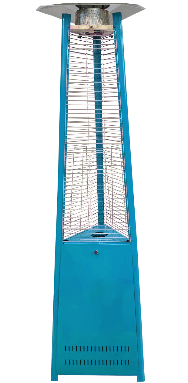 Light Blue Tower of Fire Style Patio Heater