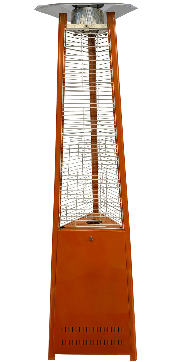 Orange Tower of Fire Style Patio Heater