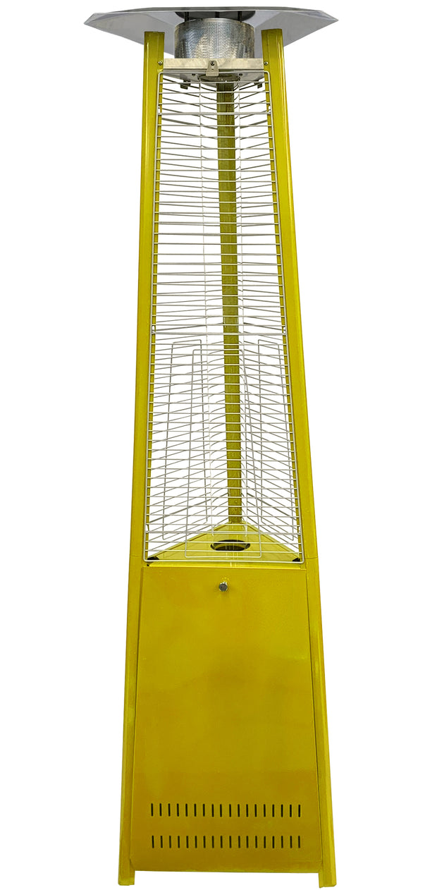 Yellow Tower of Fire Style Patio Heater