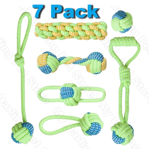 7 Piece Dog Chew Toy Set