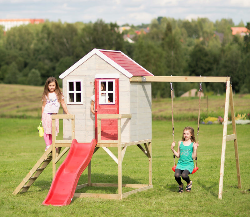 Wendi Toys Modular Playhouse M24 My Lodge Red