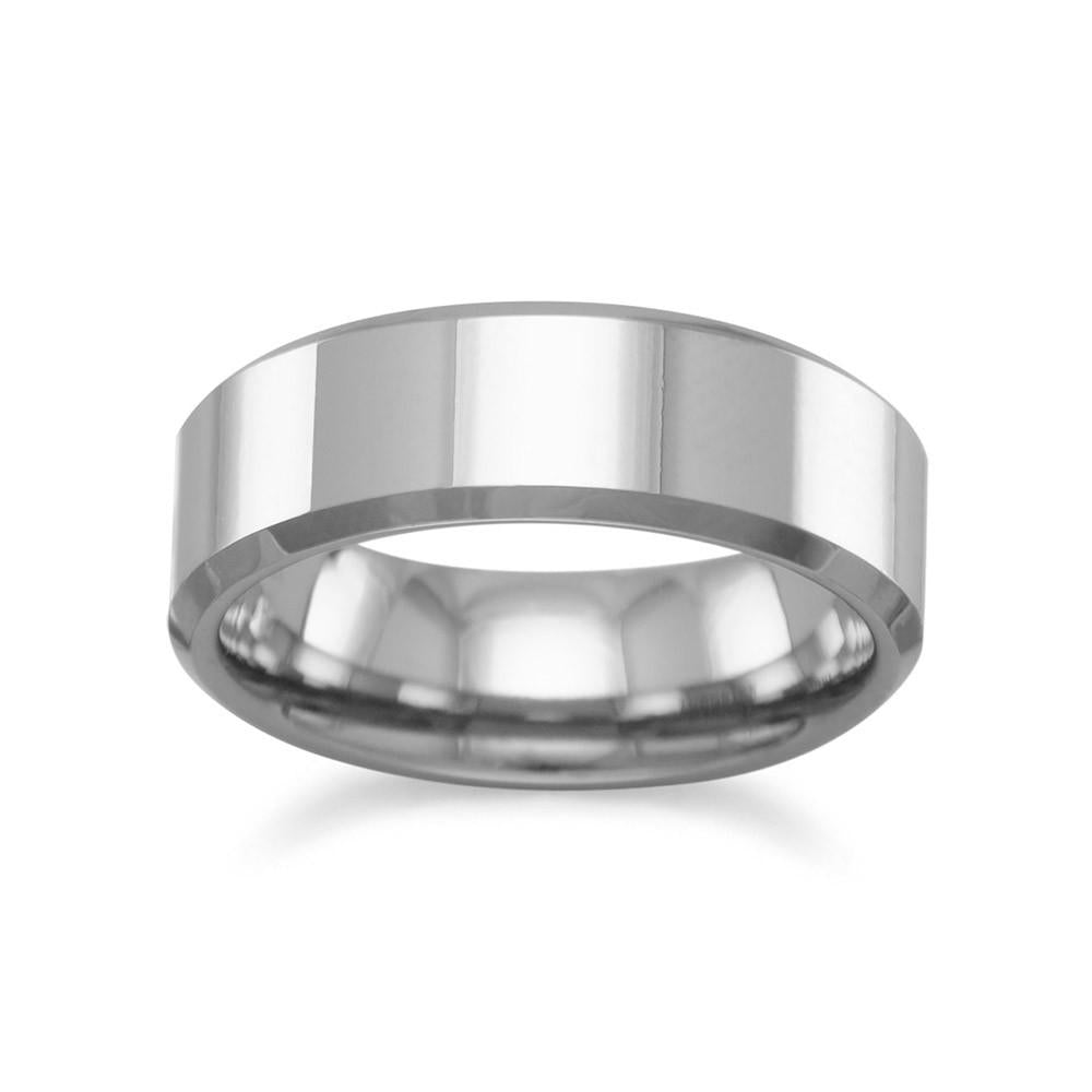 Tungsten Carbide Men's Ring with Beveled Edge - Rocky Mt. Outlet Inc - Shop & Save 24/7
