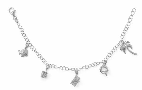 "7.5"" ""Fun in the Sun"" Charm Bracelet"