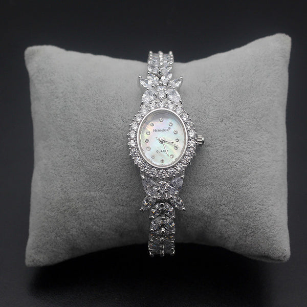 Gorgeous Luxury Hermosa Bangle Watch 198 Count Vidreo/Glass AAA Quality - Rocky Mt. Outlet Inc - Shop & Save 24/7