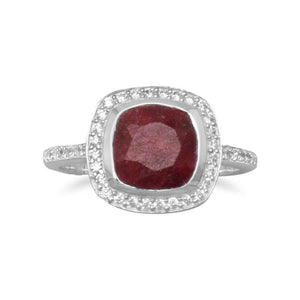 Corundum Ring with CZ Edge - Rocky Mt. Discount Outlet