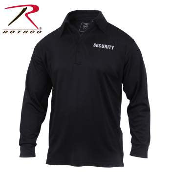 Rothco Moisture Wicking Long Sleeve Security Polo