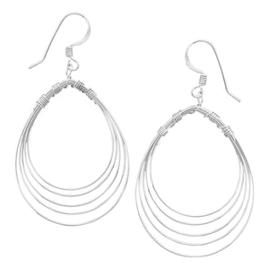 Simple Pear Shape Wire Earrings - Rocky Mt. Outlet Inc - Shop & Save 24/7