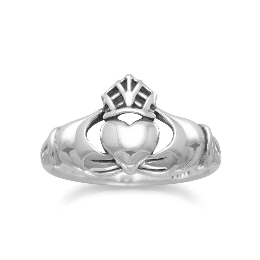 Genuine 925 Sterling Silver Oxidized Claddagh Ring - Rocky Mt. Outlet Inc - Shop & Save 24/7