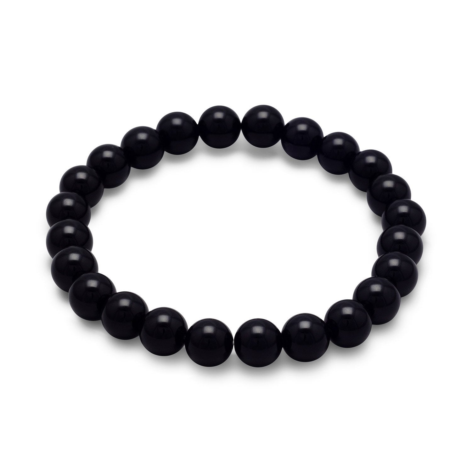 Black Onyx Bead Stretch Bracelet - Rocky Mt. Discount Outlet