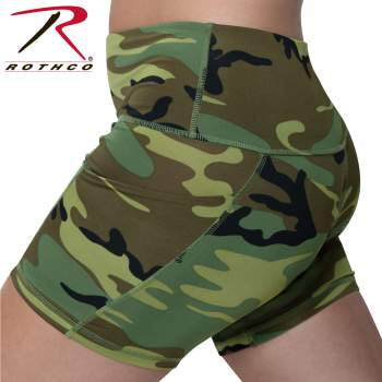 Rothco Womens Camo Workout Performance Legging Shorts