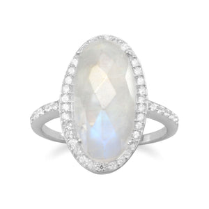 Exquisite Rainbow Moonstone Ring - Rocky Mt. Outlet Inc - Shop & Save 24/7