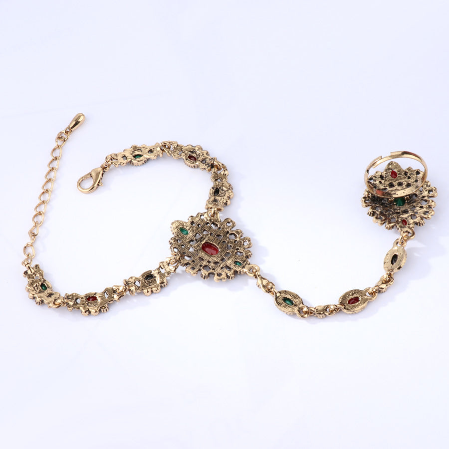 Kinel Unique Vintage Bracelet Link Ring Turkish Jewelry Set