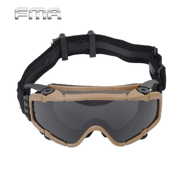 FMA Tactical Goggles With Fan Glasses Airsoft Anti-fog Durable Nylon Protector For Paintball Outdoor Hunting Gear BK/DE TB886 - Rocky Mt. Outlet Inc - Shop & Save 24/7