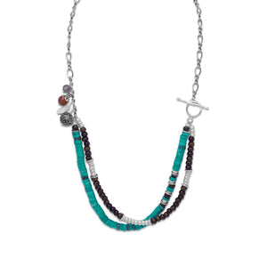 925 Sterling Silver Multistone Terra Bella Necklace