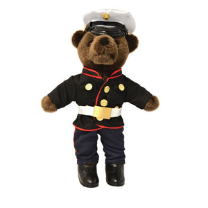 US Marine Corps (USMC) Dress Blues 10 inch Mini Brown Teddy Bear