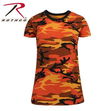 Rothco Womens Long Length Camo T-Shirt