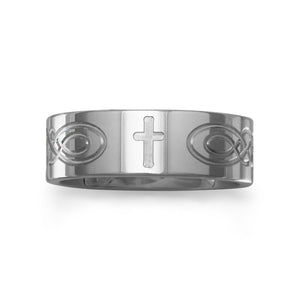 Tungsten Band with Etched Cross - Rocky Mt. Outlet Inc - Shop & Save 24/7