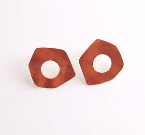 mirage earrings - rust